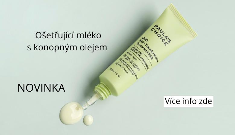 Ošetřující mléko s konopným olejem